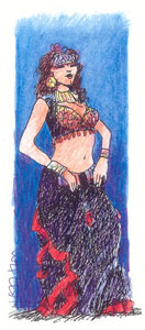 Tribal Belly Dancer by Beans Barton